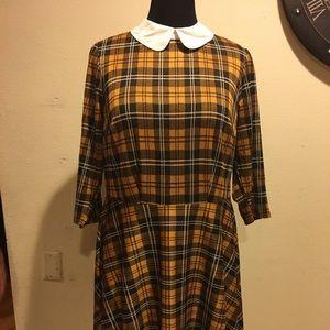 ModCloth Plaid Dress, Size 1X